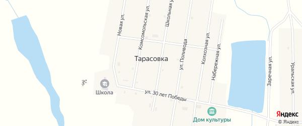 Улица Поливода на карте поселка Тарасовки с номерами домов
