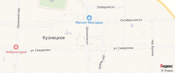 Школьная улица на карте Кузнецкого села с номерами домов