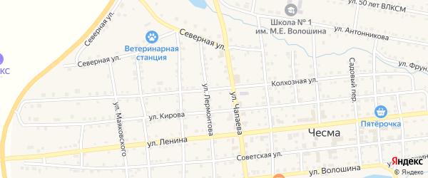 Колхозная улица на карте села Чесмы с номерами домов