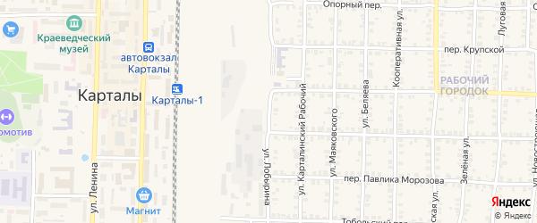 Улица Лобырина на карте Карталы с номерами домов