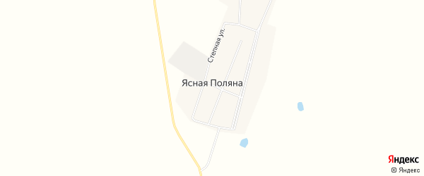 Карта села Ясной Поляны в Челябинской области с улицами и номерами домов