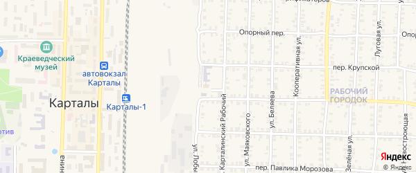 Улица Кирзавод на карте Карталы с номерами домов