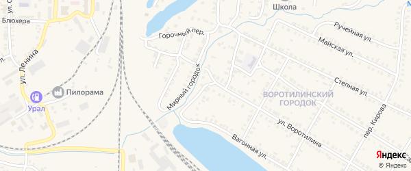Интернациональный переулок на карте Карталы с номерами домов