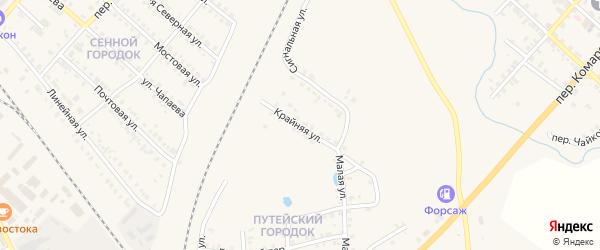 Сигнальная улица на карте Карталы с номерами домов