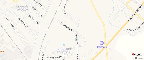 Крайняя улица на карте Карталы с номерами домов