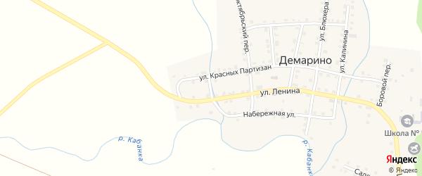 Ключевой переулок на карте села Демарино с номерами домов