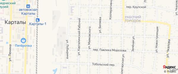 Улица Маяковского на карте Карталы с номерами домов