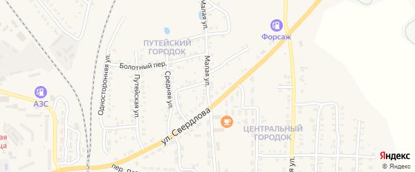 Малая улица на карте Карталы с номерами домов
