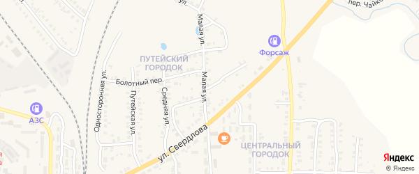 Промежуточный переулок на карте Карталы с номерами домов