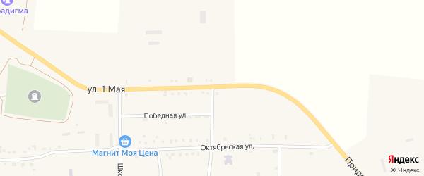 Придорожная улица на карте Кузнецкого села с номерами домов
