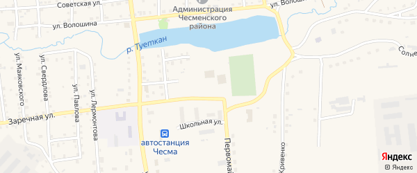 Целинная улица на карте села Чесмы с номерами домов