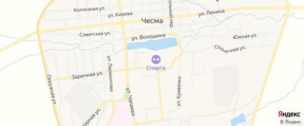 Карта села Чесмы в Челябинской области с улицами и номерами домов