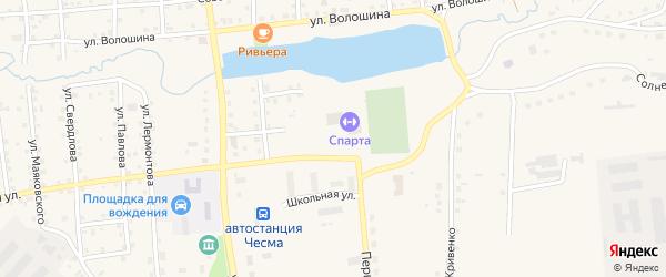 Пионерский переулок на карте села Чесмы с номерами домов