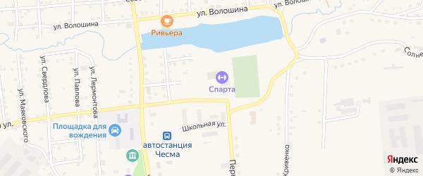 Улица Беликова на карте села Чесмы с номерами домов