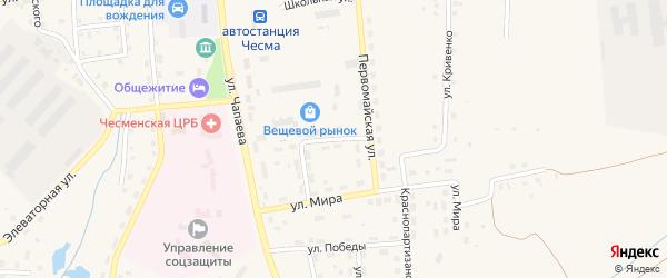 Улица Строителей на карте села Чесмы с номерами домов