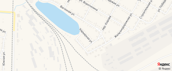 Карьерная улица на карте Карталы с номерами домов