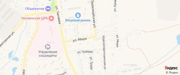 Улица Мира на карте села Чесмы с номерами домов