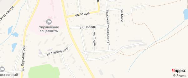Улица Труда на карте села Чесмы с номерами домов