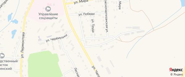 Краснопартизанская улица на карте села Чесмы с номерами домов