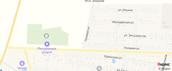 Полевая улица на карте села Чесмы с номерами домов