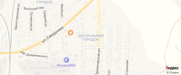 Центральный городок на карте Карталы с номерами домов