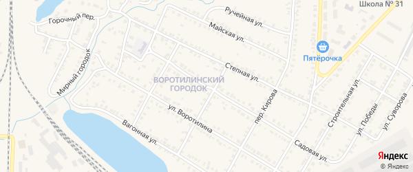 Садовая улица на карте Карталы с номерами домов