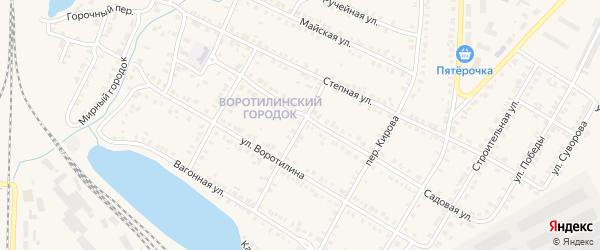 Переулок Максима Горького на карте Карталы с номерами домов