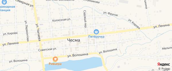 Улица Ленина на карте села Чесмы с номерами домов