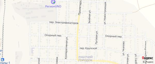 Пролетарская улица на карте Карталы с номерами домов