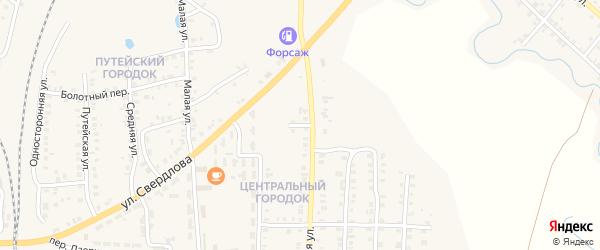 Новый переулок на карте Карталы с номерами домов