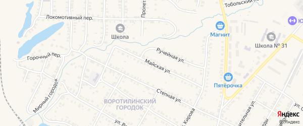 Майская улица на карте Карталы с номерами домов