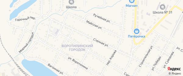 Степная улица на карте Карталы с номерами домов