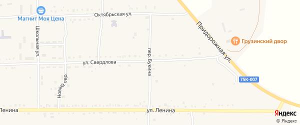 Переулок Букина на карте Кузнецкого села с номерами домов