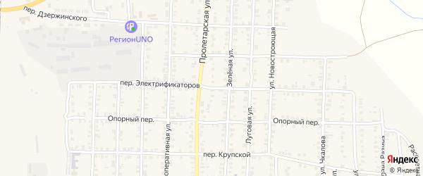 Переулок Электрофикаторов на карте Карталы с номерами домов