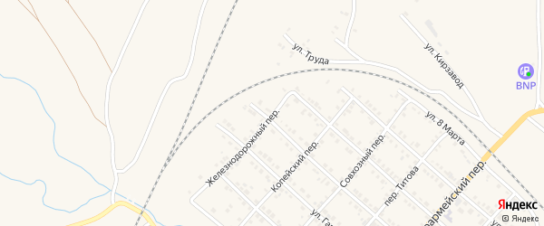 Железнодорожный переулок на карте Карталы с номерами домов