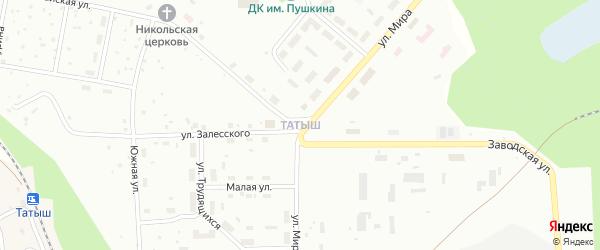 Улица Татыш на карте поселка Татыша с номерами домов