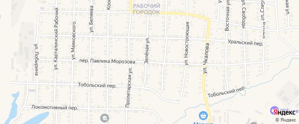 Переулок Павлика Морозова на карте Карталы с номерами домов
