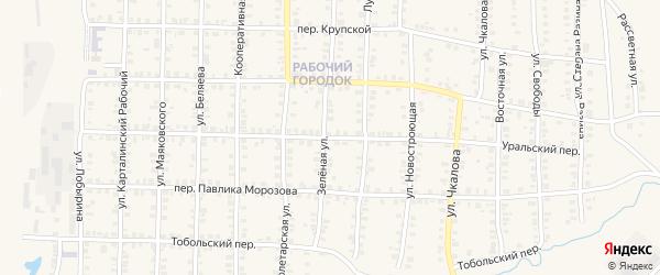 Уральский переулок на карте Карталы с номерами домов