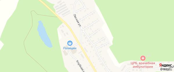 Лесная улица на карте деревни Колпакова с номерами домов