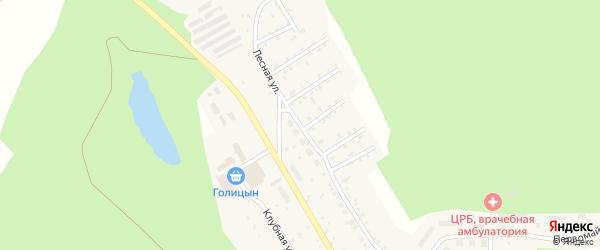 Лесная улица на карте поселка Вишневогорска с номерами домов