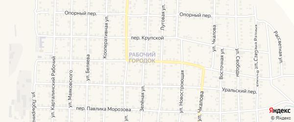 Красногвардейский переулок на карте Карталы с номерами домов