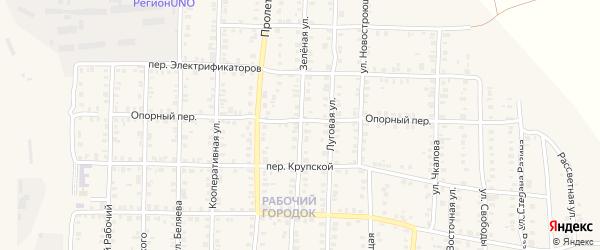 Зеленая улица на карте Карталы с номерами домов