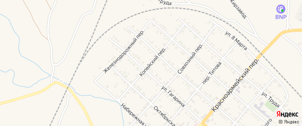 Копейский переулок на карте Карталы с номерами домов