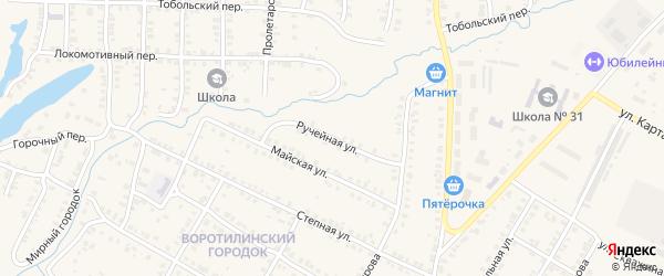 Ручейная улица на карте Карталы с номерами домов