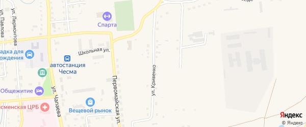 Улица Ф.П.Кривенко на карте села Чесмы с номерами домов