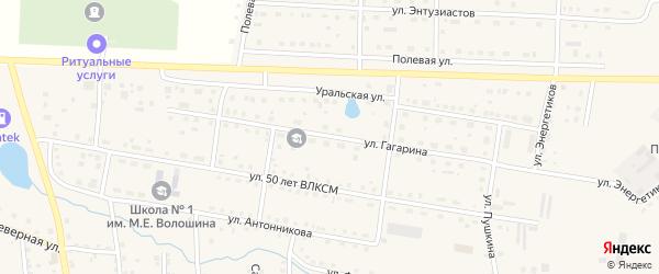 Улица Гагарина на карте села Чесмы с номерами домов