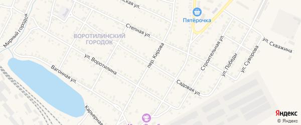 Переулок Кирова на карте Карталы с номерами домов