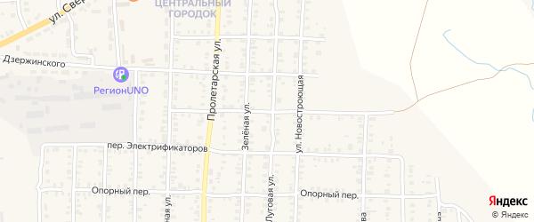Тупиковый переулок на карте Карталы с номерами домов