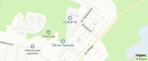 Улица Трудящихся на карте Озерска с номерами домов