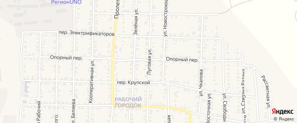 Луговая улица на карте Карталы с номерами домов